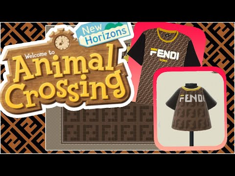 Animal Crossing New Horizons Fendi Shirt Designer Youtube
