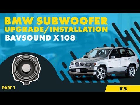 Amp And Subwoofer Wiring Diagram Bavsound Bmw X5 Subwoofer System X108 By Bsw Install
