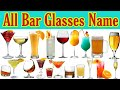Types of Bar Glasses with their Name, Capacity & Use 🍷|🍹 #Bar_Cocktails_Mocktails_Drinking_Glass