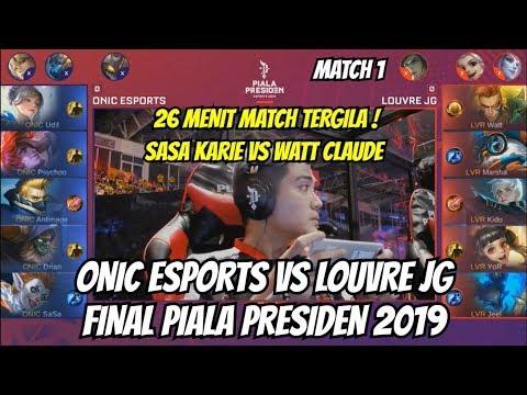 FINAL ONIC ESPORTS VS LOUVRE JG PIALA PRESIDEN ESPORTS   MATCH 1 MOBILE LEGENDS thumbnail