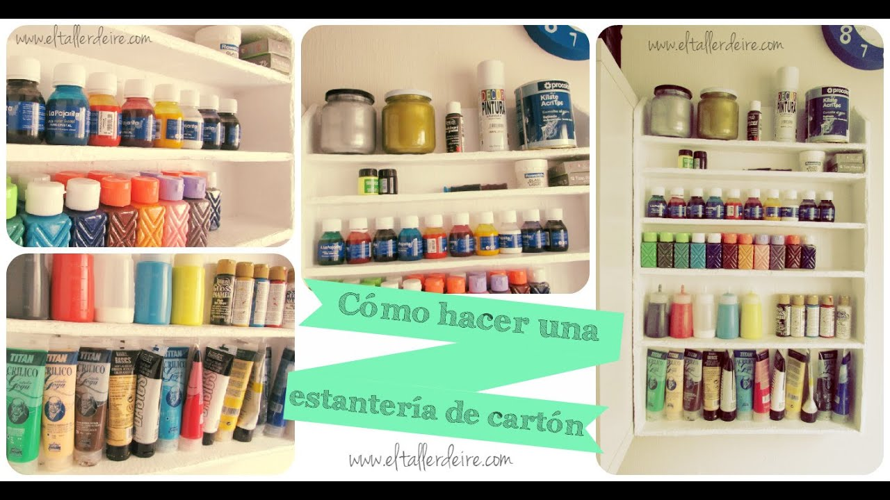 C mo hacer una estanter a de cart n resistente youtube for Mueble zapatero plastico