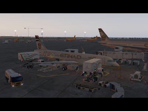 X-Plane 11 - A320 Etihad Airlines - Realistic Flight