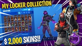 Zowoki's $2,100 SKIN and LOCKER COLLECTION! - Fortnite: Battle Royale (RARE SKINS)