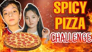 SIS vs BRO &quotEXTREME SPICY PIZZA&quot CHALLENGEBY JAREER KHAN &amp RABEECA KHAN