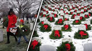 Wreaths Laid on Veterans' Headstones in Time for the Holidays