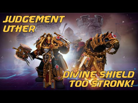 Heroes of the Storm Gameplay - Uther Competitive Build - Divine Shield Too Stronk!