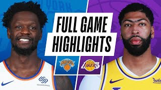 Game Recap: Lakers 101, Knicks 99