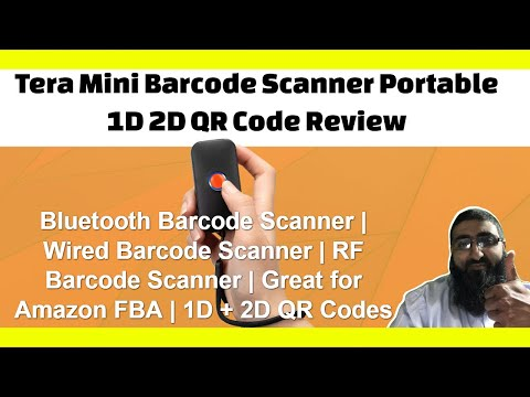 Tera Mini Barcode Scanner Portable 1D 2D QR Code Review | Bluetooth Barcode Scanner thumbnail