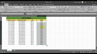 Excel Left,Right Function |  Excel Left Function | Excel Right Function | Feature in Excel [Bangla]