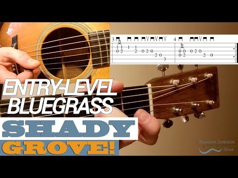 Shady Grove | Great BEGINNER Bluegrass Guitar with TAB