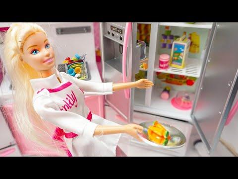 Mainan Anak Perempuan Memasak Mainan Dapur Boneka Barbie Sarapan Barbie Toys For Girls Youtube