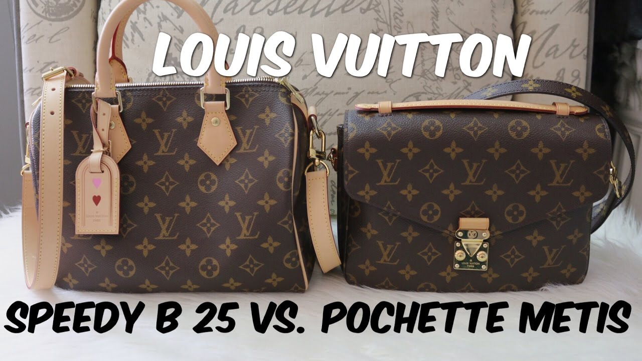 1dec2ae3f82 Louis Vuitton: Speedy B 25 Vs. Pochette Metis - YouTube
