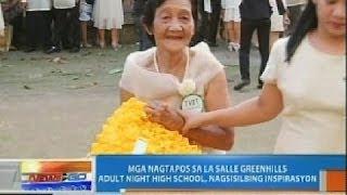 NTG: Mga nagtapos sa La Salle Greenhills adult night high school, nagsisilbing inspirasyon
