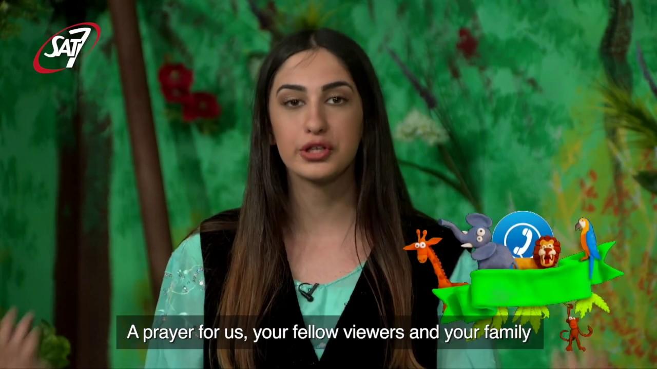 David (age 10) from Iran prays live on SAT-7 PARS