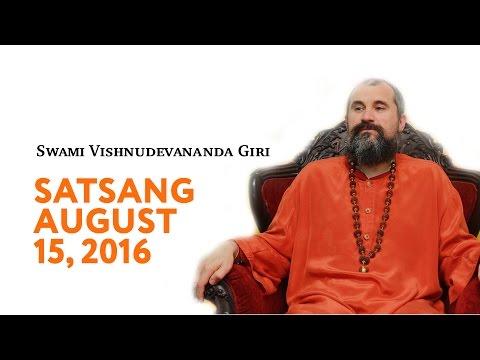 Swami Vishnudevananda Satsang 15.08.2016 (English Subtitles)