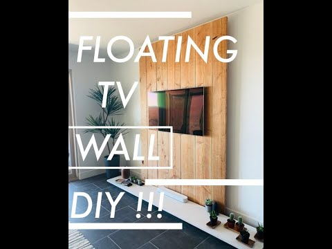 Floating TV Wall DIY !!!!