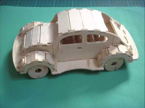 Wooden VW Beetle Kit - Unknown Scale