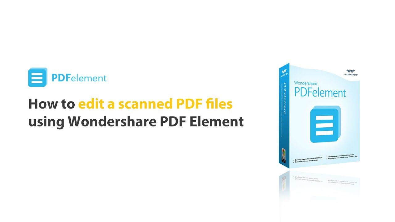 How To: Edit A Scanned Pdf By Using Pdfelement