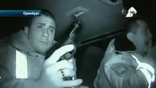 Зрелищные кадры во время погони за лихачом сняли полицейские из Оренбурга