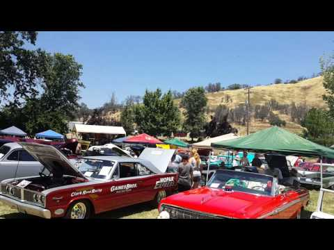 Car show at coarse gold, ca