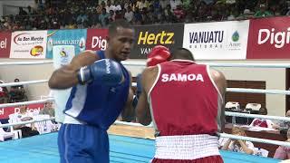 Pacific Mini Games Van2017 Boxing Mens MW 75kg Samoa vs Tonga