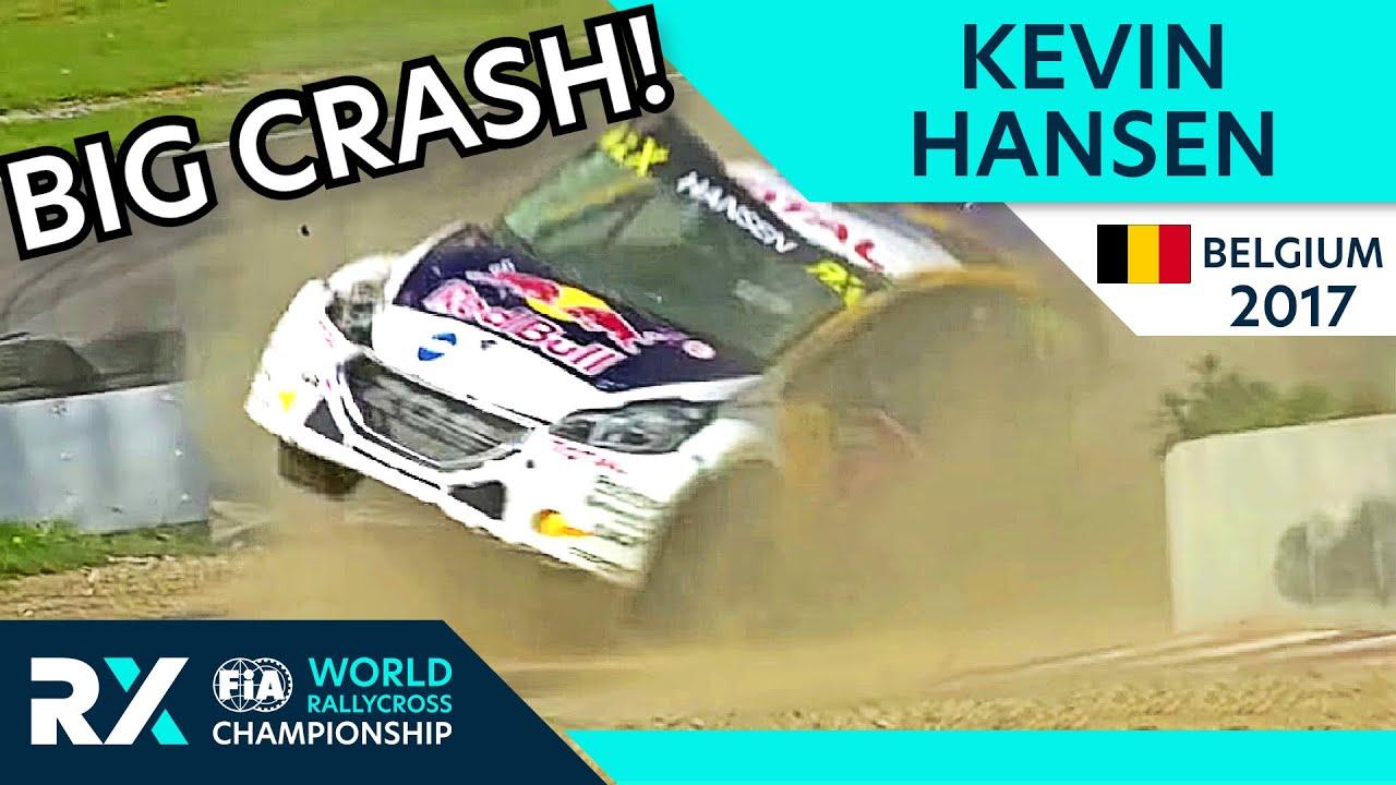Kevin Hansen HUGE Accident | FIA World Rallycross of Belgium 2017