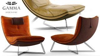 "№168. Chair modeling "" Gamma SCARLETT "" Autodesk 3ds Max"