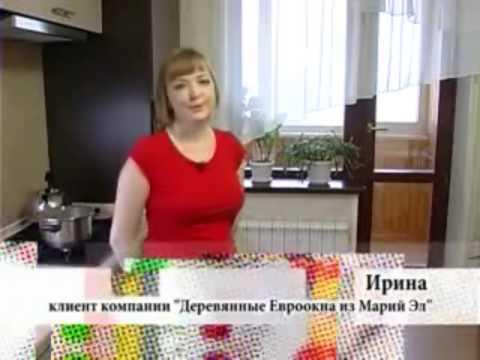 установка деревянных евроокон видео