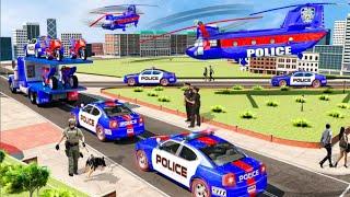 यूएस पुलिस मल्टी लेवल कार ट्रांसपोर्टर ट्रक 2021 screenshot 1