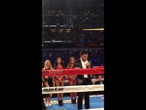 Leonardo Aguilar canta el Himno Nacional Mexicano en Dallas, TX  17 de Septiembre 2016