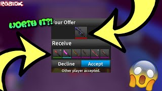 TRADING A COMPETITOR BLADE II FOR THIS?! *WORTH IT?! * (ROBLOX ASSASSIN TOUGH DECISION TRADES)