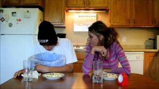 Mom VS Son The Garlic Challenge-Vomit Alert -High