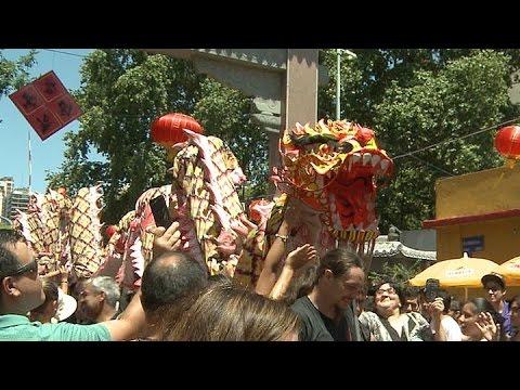 Celebraron el Año Nuevo Chino en el barrio porteño de Belgrano