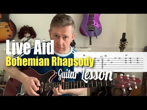 Queen Bohemian Rhapsody Live Aid Version Guitar Lesson (Guitar Tab)