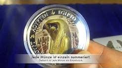Silbermünze des ägyptischen Gottes Horus - Auflage: nur 999 Stück
