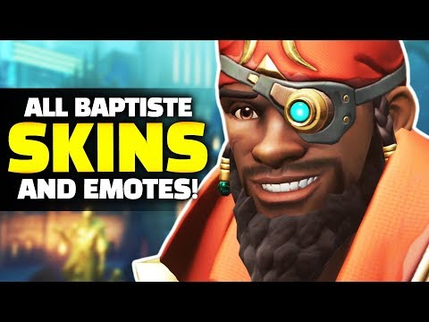 Overwatch - ALL Baptiste Skins, Emotes, Highlight Intros and Items! thumbnail