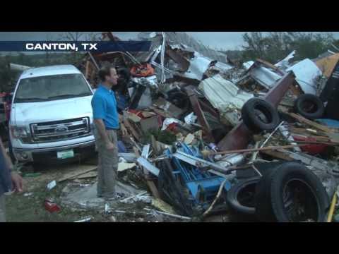 Tornado Destroys Car Dealership in Canton, TX; Leaves 5 Dead
