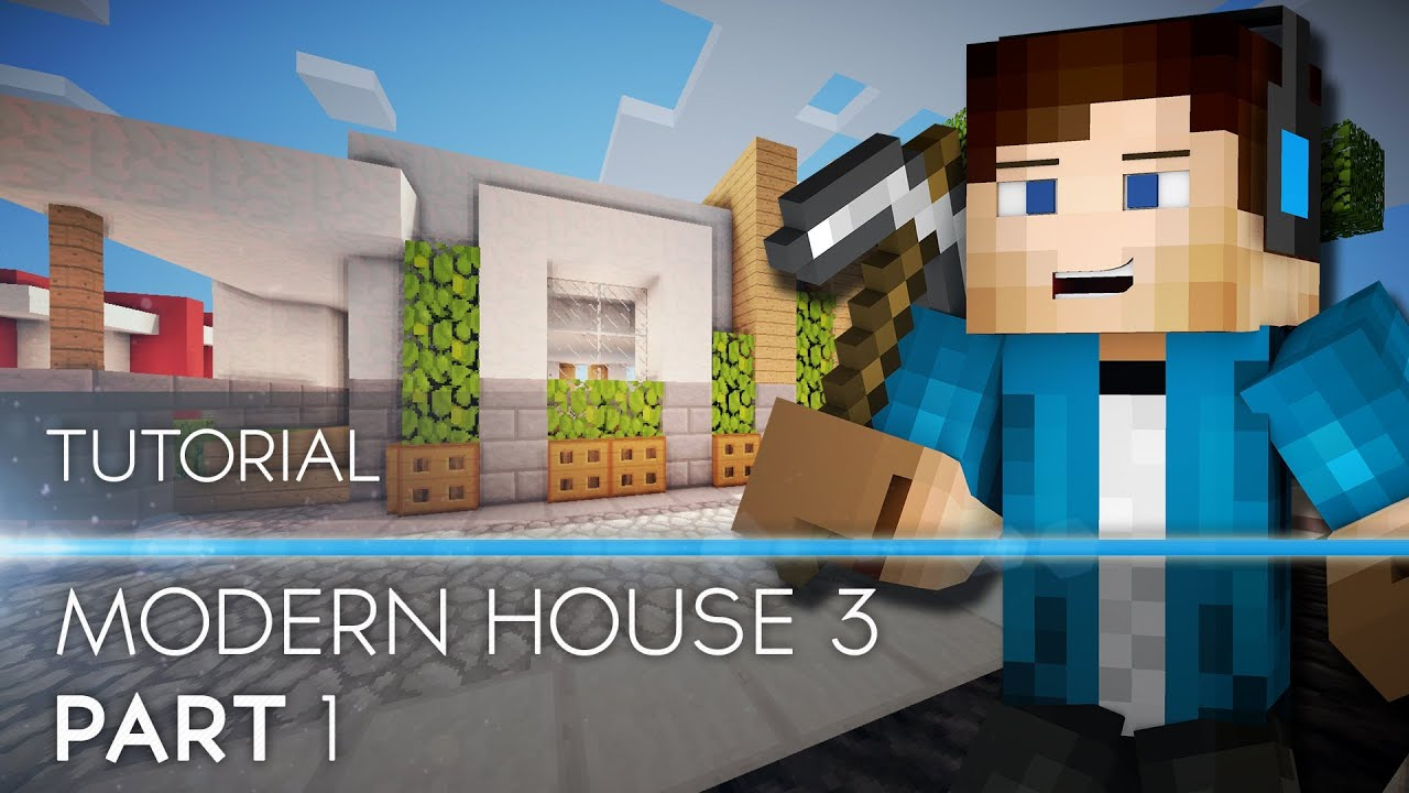 Tutorial Minecraft Modern House 3 Part 1 HD YouTube