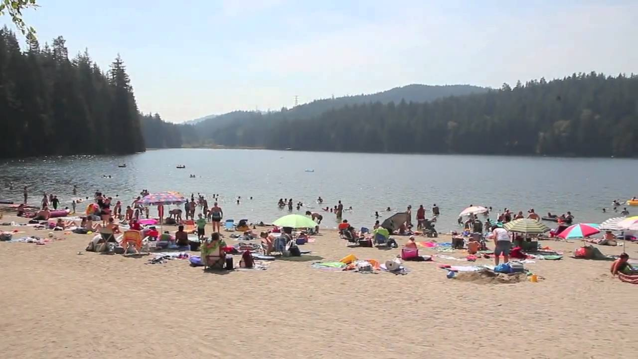 South Side Of White Pine Beach At Sasamat Lake Near Anmore And Port