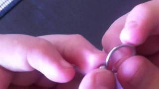 How to take captive bead rings on and off