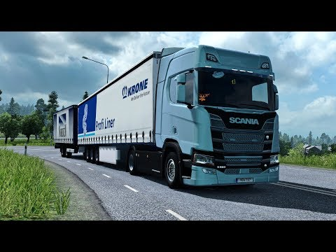 ETS2 1.30 - New Scania V8 in Scandinavia - V8 Sound - Double