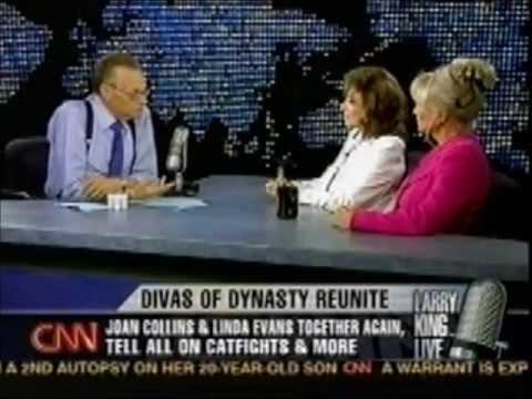 Linda Evans and Joan Collins on