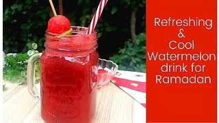 Fresh Watermelon Juice Recipe/Watermelon lemonade drink for Ramadan by food variety