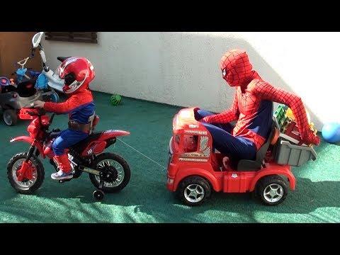 Oficina de Veículos do Homem Aranha – Borracharia Veículos Elétricos Caminhão Moto Vida Real