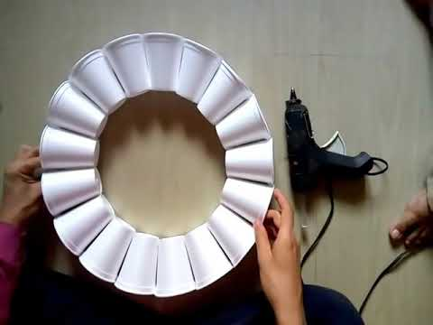 How to Make Thermocol cup lamp