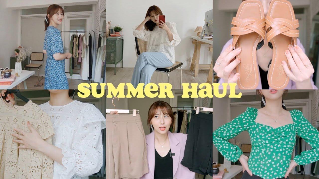 Summer Haul🍒 |上衣、洋裝、髮飾、涼鞋|購物分享|韓貨連線