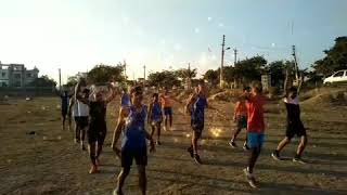 My dream Join Indian army ..warm up practice before 1600m race by Defence Academy Jind