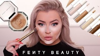 RIHANNA, GIRL... FENTY BEAUTY CONCEALER & SETTING POWDER REVIEW