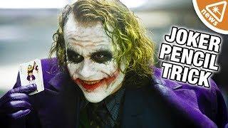 The Secret of The Joker's Dark Knight Pencil Trick Revealed! (Nerdist News w/ Jessica Chobot)