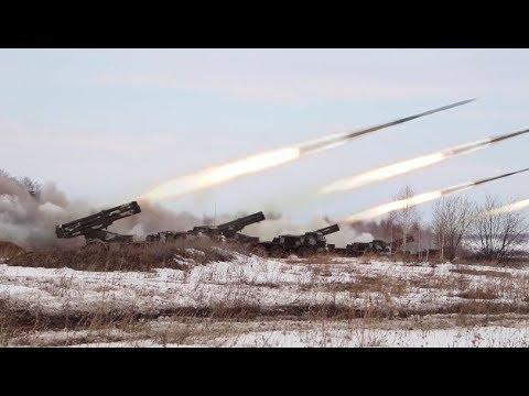 RAW: Artillery drills held in Russia
